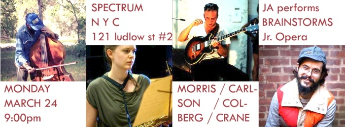 Tonight @ Spectrum in the LES - a very fun show !