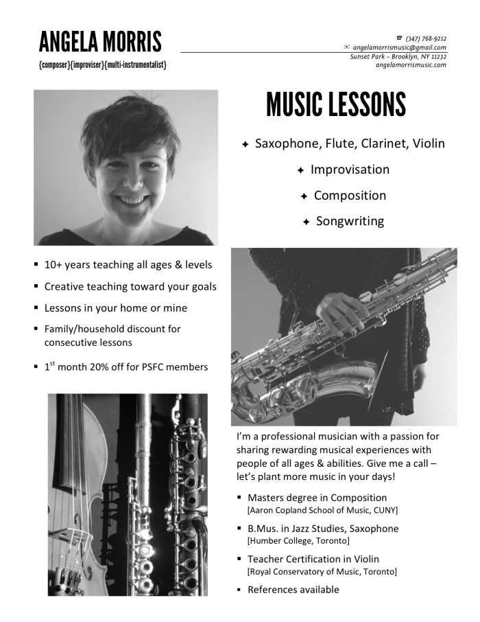 MUSIC LESSONS with Angela Morris