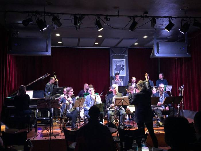 JCS at Jazz Gallery conducting Jan 2019
