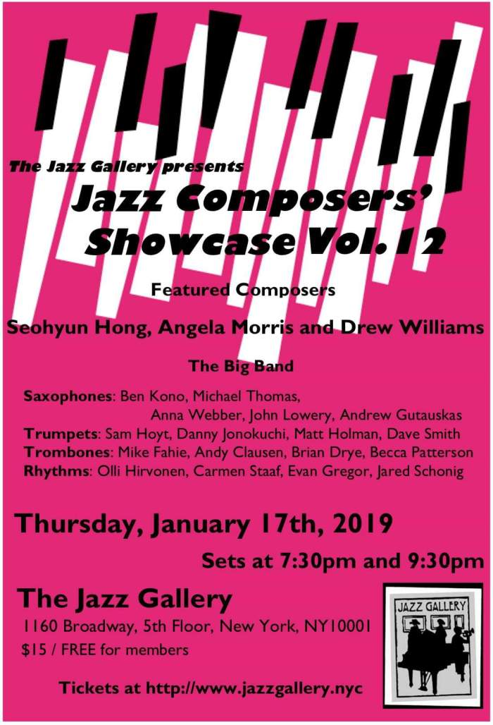 JCS at Jazz Gallery poster Jan 2019