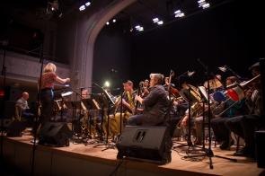 Webber / Morris Big Band. Photo by Wolf Daniel courtesy of Roulette Intermedium