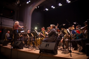 Webber / Morris Big Band. Photo by Wolf Daniel courtesy of Roulette Intermedium