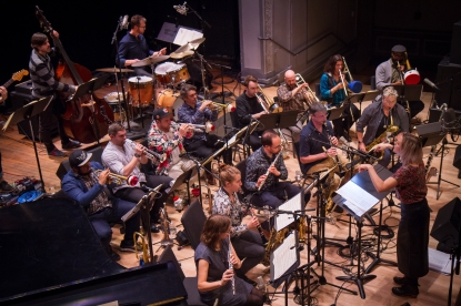 Webber/Morris Big Band at Roulette Intermedium. Photo by Wolf Daniel